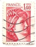 Stamps France -  mujer