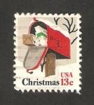 Stamps United States -  1176 - Navidad, Buzón de Correos