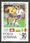 Stamps Romania -  4170 - Mundial de fútbol Estados Unidos, grupo A