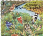 Stamps of the world : Mexico :  Bosque templado