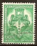 Stamps Europe - Czech Republic -  Tercer Plan Quinquenal . Excavadora.
