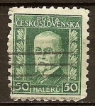 Stamps Europe - Czech Republic -  Presidente Masaryk.