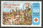 Stamps : America : Nicaragua :  1076 - 50 anivº de Cruz Roja nicaragüense