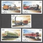 Sellos de America - Cuba -  160 Aniversario del Ferrocarril en Cuba
