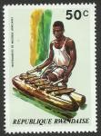 Sellos del Mundo : Africa : Rwanda :  Instrumento africano de percusión