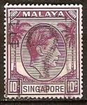 Sellos del Mundo : Asia : Singapur : Jorge VI.