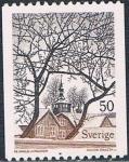 Sellos de Europa - Suecia -  CUADROS 1973. CIUDAD DE TROSA, POR REIBHOLD LJUNGGREN. Y&T N� 781