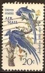 Sellos del Mundo : America : Estados_Unidos : John James Audubon 1785-1851,artista y naturalista(urraca jay).