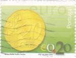 Sellos de Europa - Portugal -  moneda de 20 ctmos  de €