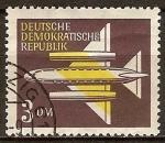 Sellos de Europa - Alemania -  Correo aereo-por vía aérea,avión (DDR).
