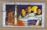 Stamps Equatorial Guinea -  APOLO 15 - Astronautas