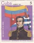 Sellos de America - Cuba -  bicentenario nacimiento  Simon Bolivar