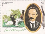 Stamps Cuba -  centenario caida en combate Jose marti