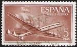 Sellos de Europa - España -  Superconstelación y Nao Santa Maria