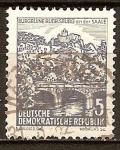 Sellos de Europa - Alemania -  paisajes y edificios históricos. Ruinas de Rudelsburg (DDR).
