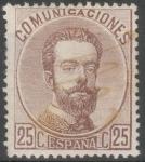 Stamps : Europe : Spain :  ESPAÑA 124 AMADEO I