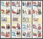 Stamps America - Cuba -  Historia Latinoamericana, Banderas y Trajes tipicos