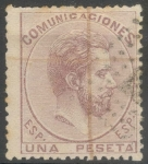 Stamps : Europe : Spain :  ESPAÑA 127 AMADEO I