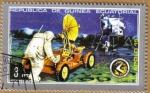 Stamps Equatorial Guinea -  APOLO 15 - Montaje vehiculo lunar