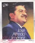 Stamps Mexico -  XXV aniv.luctuoso de Jose Alfredo Jimenez