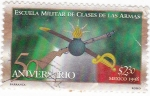 Stamps of the world : Mexico :  50naniv.escuela militar de clases de las armas