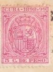 Sellos del Mundo : America : Cuba : Escudo España Ed 1898-99