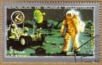 Stamps Equatorial Guinea -  APOLO 15 - Recogida de rocas