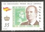Stamps Spain -  3692 - 150 anivº del primer sello español, Juan Carlos I