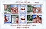 "Stamps : Europe : Spain :  3-Octubre Exposicion Filatelica de América y Europa ""ESPAMER-80"""