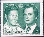 Stamps Europe - Sweden -  BODA REAL ENTRE EL REY CARLOS XVI GUSTAVO Y SILVIA SOMMERLATH. Y&T Nº 926