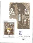 Stamps Spain -  91 - Prueba Oficial, Vidriera de la Catedral de Ávila