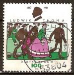 Sellos de Europa - Alemania -  75a.Aniv de la muerte de Ludwig thoma (humorista)