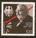 Sellos de Europa - Alemania -  Centenario del nacimiento de Ludwig Erhard 1897-1977  (Canciller, 1963-66).