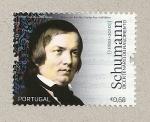 Stamps Portugal -  200 aniv. nacimiento de Schumann