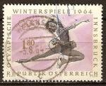 Sellos del Mundo : Europa : Austria : Juegos Olímpicos de Invierno 1964,en Innsbruck. Patinaje artístico.