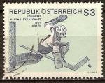Sellos de Europa - Austria -  Campeonato mundial de Hockey sobre hielo 1967 , en Viena.
