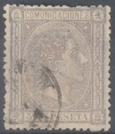 Stamps Spain -  ESPAÑA 168 ALFONSO XII