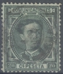 Stamps Spain -  ESPAÑA 176 ALFONSO XII