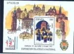 """Stamps : Europe : Spain :  2 de Abril Exposición filatelica Nacional """"EXFILNA 93"""""""