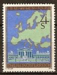 Sellos de Europa - Austria -  3ª. Confer Interparlamentaria Europea de Seguridad, de Viena. Mapa de Europa y Parlamento austriaco.