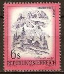 Sellos del Mundo : Europa : Austria : La cabaña de Lindauer en (sierra) Rätikon.