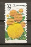 Stamps United States -  CHRYSANTHEMUM