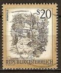 Sellos del Mundo : Europa : Austria : Paisajes de Austria - Myrafälle.