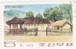 Sellos de Asia - Corea del norte -  casas tipicas