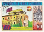 Stamps Equatorial Guinea -  75 aniversario F.C.Barcelona-la Masia