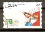 Sellos de America - Cuba -  LANZAMIENTO  DE  MARTILLO