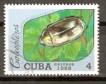 Stamps Cuba -  PLUSIOTIS  ARGENTEOLA  BATES