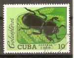 Stamps Cuba -  ODONTOTAENIUS  ZODIACUS  TRUQUI