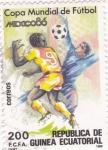Sellos de Africa - Guinea Ecuatorial -  Mundial de futbol-Mexico  86