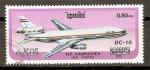 Stamps Cambodia -  JET   DC - 10